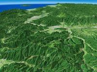 美ヶ原と上田盆地を望む