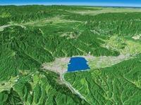 諏訪盆地を望む
