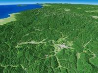 高山盆地を望む