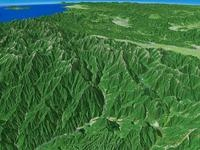 奥飛騨温泉郷と穂高連峰を望む
