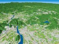 木曽川・日本ラインを望む