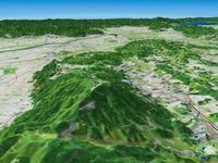 生駒山を北側へ望む