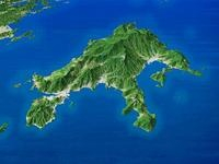 小豆島を高松より望む