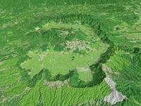 阿蘇山を北から望む