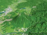 安比高原より岩手山とカルデラを望む