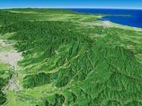 上山市より蔵王連峰・奥羽山脈を望む 02614000809| 写真素材・ストックフォト・画像・イラスト素材|アマナイメージズ