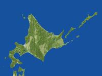 北海道の真俯瞰図(春)