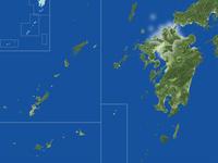 福岡県の真俯瞰図(夏) 02614000998| 写真素材・ストックフォト・画像・イラスト素材|アマナイメージズ