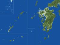 佐賀県の真俯瞰図(夏) 02614001000| 写真素材・ストックフォト・画像・イラスト素材|アマナイメージズ