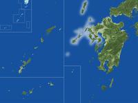 長崎県の真俯瞰図(夏) 02614001002| 写真素材・ストックフォト・画像・イラスト素材|アマナイメージズ