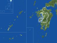 熊本県の真俯瞰図(夏) 02614001004| 写真素材・ストックフォト・画像・イラスト素材|アマナイメージズ