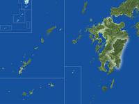 宮崎県の真俯瞰図(夏)