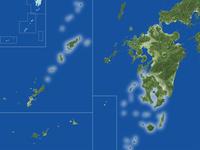 鹿児島県の真俯瞰図(夏)