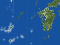 沖縄県の真俯瞰図(夏)