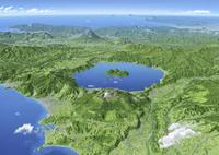 VISTA MAP洞爺湖 雲・文字情報有 02614001087| 写真素材・ストックフォト・画像・イラスト素材|アマナイメージズ