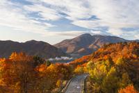 秋の磐梯山と磐梯吾妻レークライン
