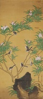 花と小鳥たち(BIRDS WITH FLOWES) 02626000013| 写真素材・ストックフォト・画像・イラスト素材|アマナイメージズ