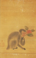 桃と猿(A MONKEY WITH PEACH)