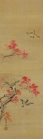 紅葉と小鳥 02626000040| 写真素材・ストックフォト・画像・イラスト素材|アマナイメージズ