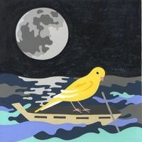 船に乗る小鳥と宇宙 02632000006| 写真素材・ストックフォト・画像・イラスト素材|アマナイメージズ