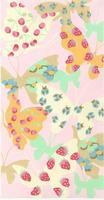 パステルカラーの蝶
