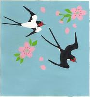 ツバメと桜