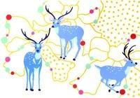 三匹の鹿とリボン