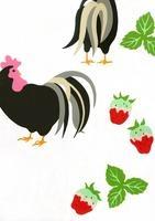 鶏とイチゴ