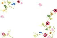 花と小鳥のフレーム