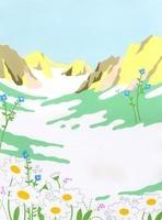 高原に咲く花々