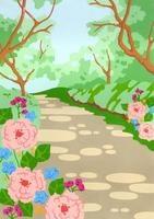 木漏れ日とバラ