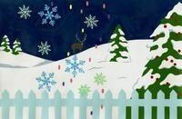 雪が降る雪原