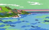 カラフルな海