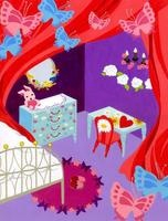 ロマンティックな女の子の部屋