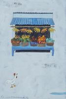 バリの果物屋台とニワトリ 02640000002| 写真素材・ストックフォト・画像・イラスト素材|アマナイメージズ