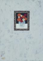 壁に掛けられた花の絵画 02640000004| 写真素材・ストックフォト・画像・イラスト素材|アマナイメージズ