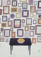 壁に掛けられたたくさんの額 02640000013| 写真素材・ストックフォト・画像・イラスト素材|アマナイメージズ