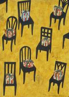 プレゼントボックスが置かれた、たくさんの椅子 02640000043| 写真素材・ストックフォト・画像・イラスト素材|アマナイメージズ