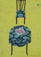 ハスの葉柄のテーブルに置かれたハスの花 02640000053| 写真素材・ストックフォト・画像・イラスト素材|アマナイメージズ