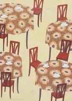 ティーカップの置かれたテーブルとイスのある空間 02640000062| 写真素材・ストックフォト・画像・イラスト素材|アマナイメージズ