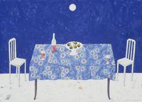 赤ワインとイチジクの置かれたテーブル 02640000072| 写真素材・ストックフォト・画像・イラスト素材|アマナイメージズ