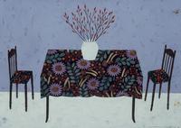 テーブルと向かい合わせに置かれた2脚の椅子 02640000105| 写真素材・ストックフォト・画像・イラスト素材|アマナイメージズ