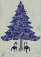 大きなクリスマスツリーと2脚の椅子 02640000107| 写真素材・ストックフォト・画像・イラスト素材|アマナイメージズ