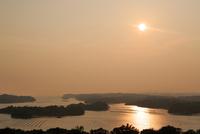 志摩 ともやま公園から望む英虞湾の夕日