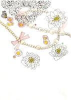 白い花とネックレス