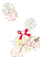 白い花とティアラのリングピロー