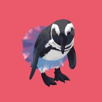 チュールスカートのペンギン