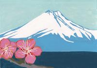 紅梅富士山 02650000001| 写真素材・ストックフォト・画像・イラスト素材|アマナイメージズ