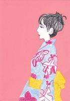 着物を着た女性 02650000007| 写真素材・ストックフォト・画像・イラスト素材|アマナイメージズ