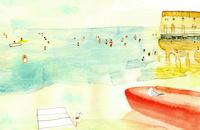 海水浴 02653000035| 写真素材・ストックフォト・画像・イラスト素材|アマナイメージズ